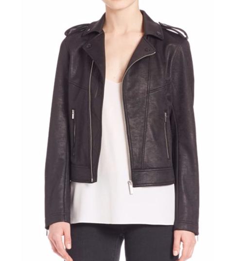 Leather Effect Biker Jacket by The Kooples in Fast 8
