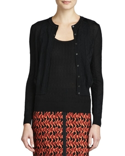 Zigzag Crewneck Cardigan by M Missoni in Brooklyn
