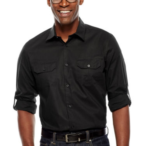 Slim-Fit Roll-Sleeve Shirt by Claiborne in The Divergent Series: Allegiant