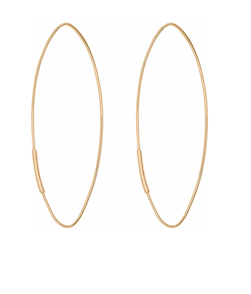 Straight Magic Large Hoop Earrings by Lana in Animal Kingdom - Season 1 Episode 1