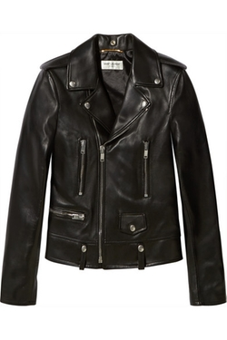 Leather Biker Jacket by Saint Laurent in Keeping Up With The Kardashians