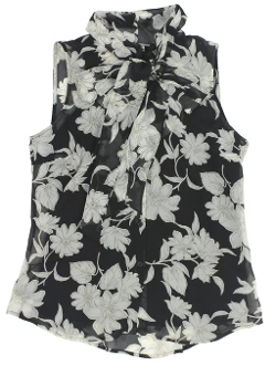 Women's Sleeveless Floral Silk Blouse by Lauren Ralph Lauren in While We're Young