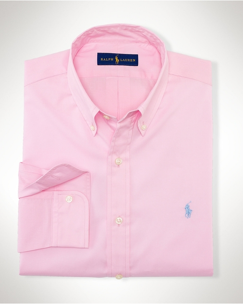 Solid Cotton Poplin Shirt by Polo Ralph Lauren in Vacation