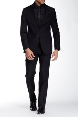Hampton Two Button Notch Lapel Suit by John Varvatos Collection in House of Cards