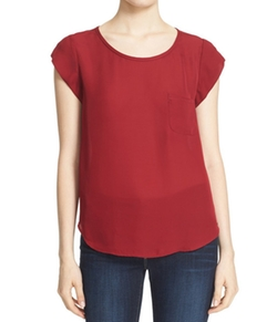 Rancher Silk Pocket Tee by Joie in Fuller House