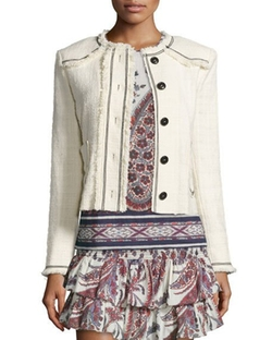Ferris Tweed Button-Down Jacket by Isabel Marant Etoile in The Bachelorette