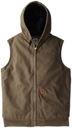 Men's Sandstone Hooded Active Vest Quilt Lined by Carhartt in Maze Runner: The Scorch Trials