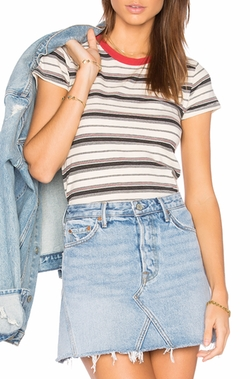 Multi Stripe Jersey Tee by Stateside in Pitch Perfect 3