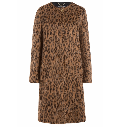 Wool-Alpaca Leopard Print Coat by Salvatore Ferragamo in The Good Wife - Season 7 Episode 20