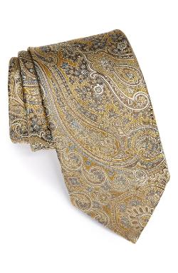 Woven Silk Tie by Canali in Yves Saint Laurent