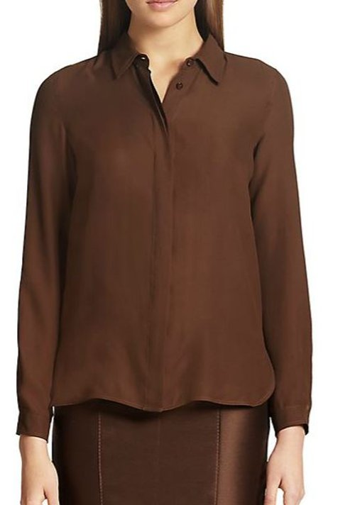 Milo Silk Blouse by Maxmara in Spy