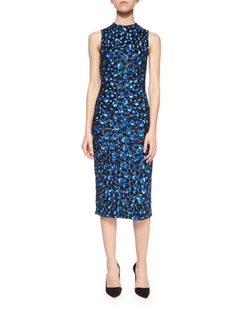 Ivana Beaded Midi Sheath Dress by Alice + Olivia in Empire