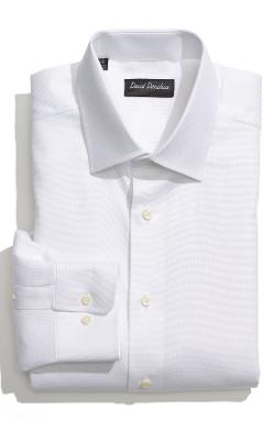 Royal Oxford Regular Fit Dress Shirt by David Donahue in Unbroken