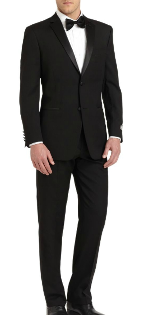 Satin Notched-Lapel Wool Tuxedo by Ike Behar in The Best of Me