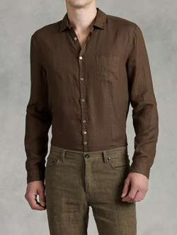 Linen Placket Shirt by John Varvatos in Steve Jobs