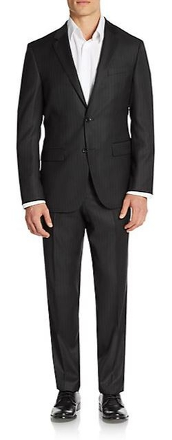 The Grand/Central Regular-Fit Pinstriped Virgin Wool Suit by Boss Hugo Boss in Billions