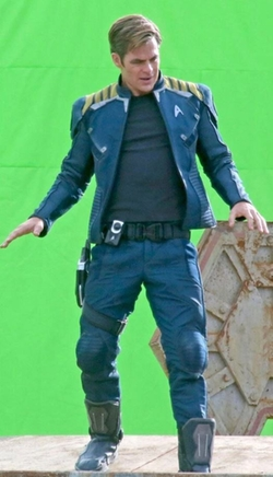 Custom Made Captain Kirk Starfleet Jacket by Sanja Milkovic Hays (Costume Designer) in Star Trek Beyond