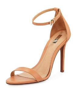 Cadey-Lee Leather Ankle-Strap Sandal by Schutz in The Other Woman