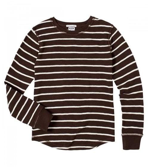 Boys' Stripe Thermal Crew by Ruum in Interstellar
