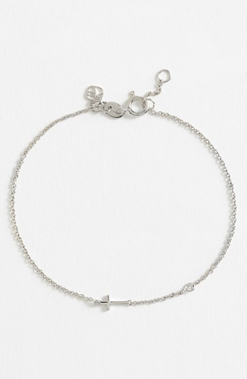 Cross Bracelet by SHY by Sydney Evan in The Overnight