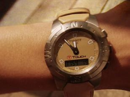 Customized  T-Touch Watch by Tissot in Mr. & Mrs. Smith