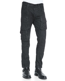 Courier Slim-Fit Cargo Jeans by Ralph Lauren Black Label in The Flash
