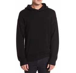 Wool-Cashmere Pullover Hoodie by Vince in Black Panther