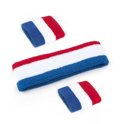 Patriot Style / NBA Style Stripe Sweatband Set by GOGO in Anchorman 2: The Legend Continues