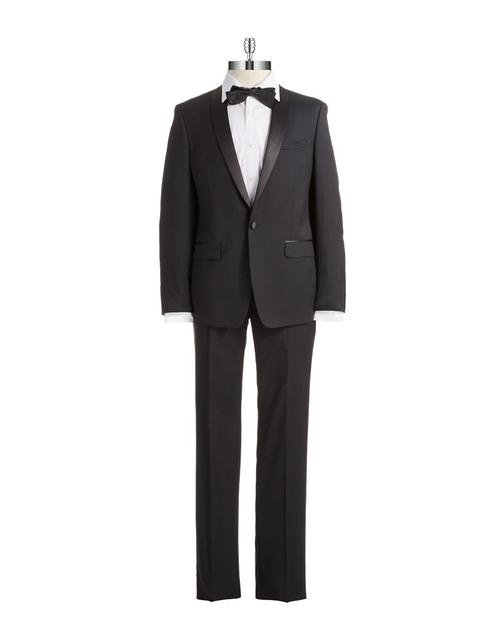 Two Piece Tuxedo Suit by Calvin Klein in Legend