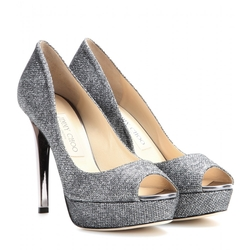 Dahlia Glitter Pumps by Jimmy Choo in Bridesmaids