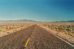 Nevada, USA by Extraterrestrial Highway in Godzilla