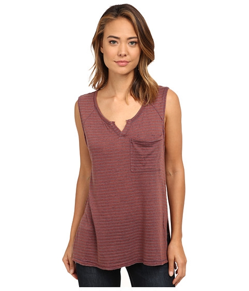 Linen Stripe Warrior Henley Top by Free People in Pretty Little Liars - Season 6 Episode 14