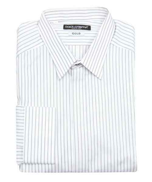 Striped Placket Dress Shirt by Dolce & Gabbana in The Martian