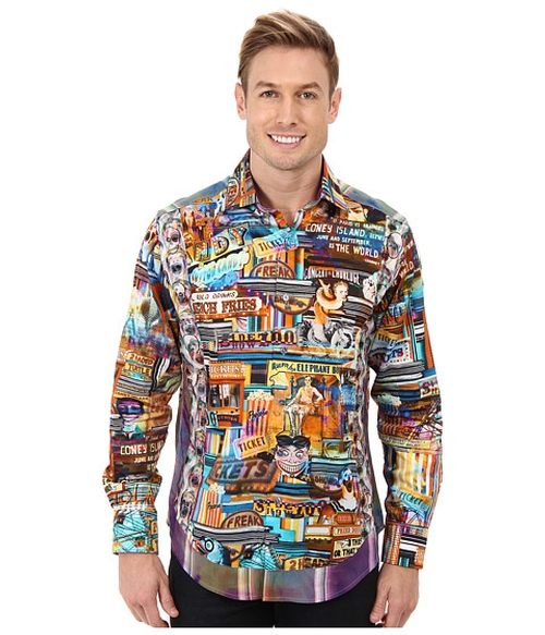 Aruba Nat L/S Woven Sport Shirt by Robert Graham in Hot Tub Time Machine 2