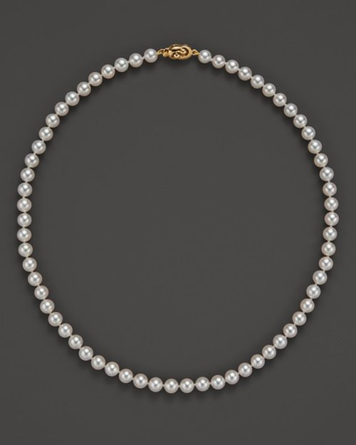 Akoya Cultured Pearl Necklace by Tara Pearls in That Awkward Moment