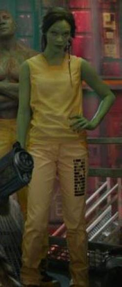 Custom Made Prisoner's Top (Gamora) by Alexandra Byrne (Costume Designer) in Guardians of the Galaxy