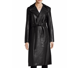 Leather Trench Coat by Robert Rodriguez in Proud Mary