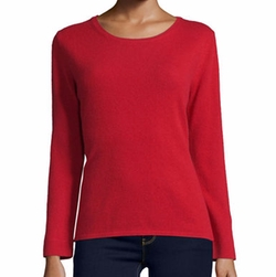Modern Cashmere Crewneck Sweater by Neiman Marcus Cashmere Collection in The Circle