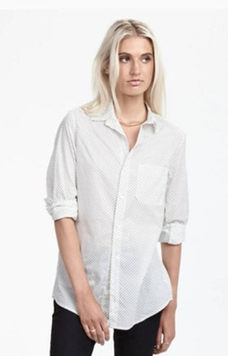 Dot Button Down Shirt by Zady in Supergirl