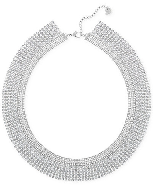 Silver-Tone Crystal Mesh Collar Necklace by Swarovski in Empire - Season 2 Episode 13