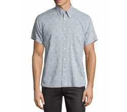 Floral Short-Sleeve Oxford Shirt by Billy Reid in The Flash