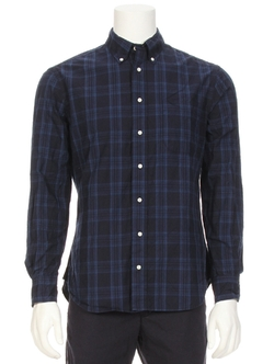 Tonal Plaid Shirt by Gitman Brothers Vintage in Elementary