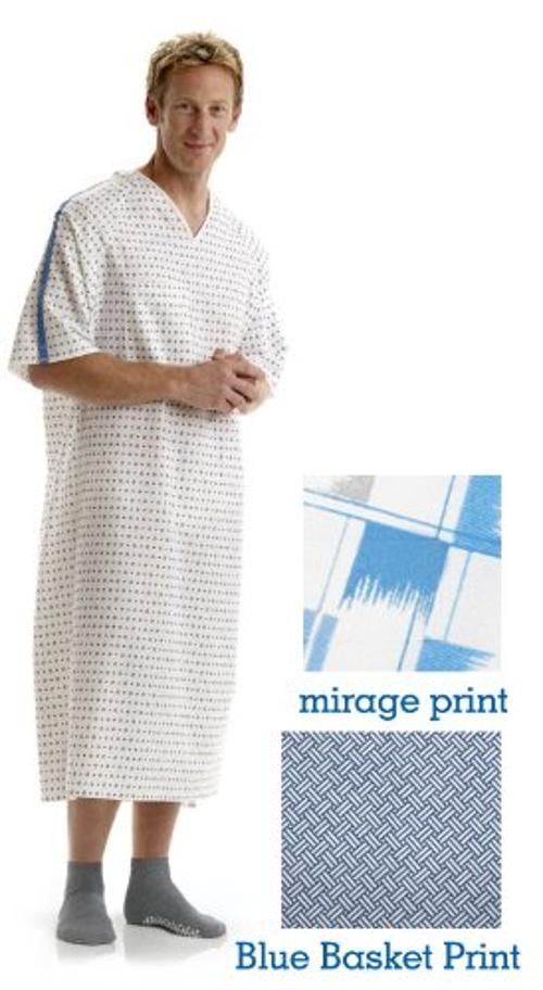 Hospital Patient Reinforced Iv Gown by BH Medwear in St. Vincent