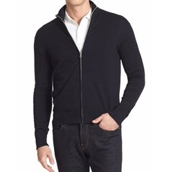 Front Zip Sweater by Victorinox Swiss Army in Death Wish