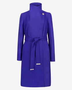 Lorili Long Wool Wrap Coat by Ted Baker London in Arrow