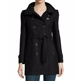 Daylesmoore Wool-Blend Zip-Pocket Trench Coat by Burberry Brit in Mr. & Mrs. Smith