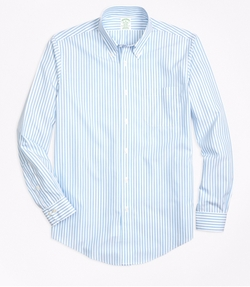 Border Stripe Sport Shirt by Brooks Brothers in Snowden