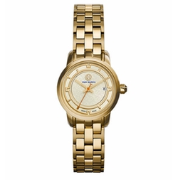 Tory Golden Bracelet Strap Watch by Tory Burch in The Fate of the Furious