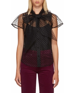 Black Polka Dot Bow Blouse by Marc Jacobs in Will & Grace