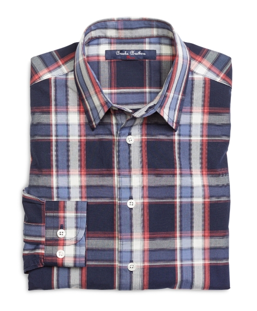 Cotton Plaid Sport Shirt by Brooks Brothers in Paper Towns